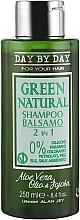 Духи, Парфюмерия, косметика Шампунь-бальзам 2в1 с маслом жожоба и алоэ вера для всех типов волос - Alan Jey Green Natural Shampoo-Balsam