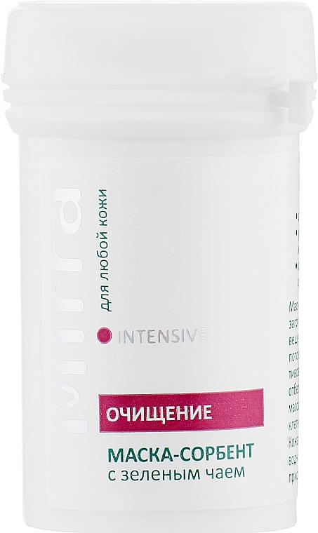 Маска сорбент-пилинг с зеленым чаем - Mirra Intensive