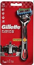 Духи, Парфюмерия, косметика Бритва с 1 сменной кассетой, красная - Gillette Fusion ProGlide Power