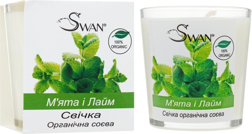 """Органическая соевая свеча """"Мята и Лайм"""" - Swan"""