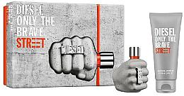 Духи, Парфюмерия, косметика Diesel Only The Brave Street - Набор (Edt/35ml + Sh/gel/50ml)