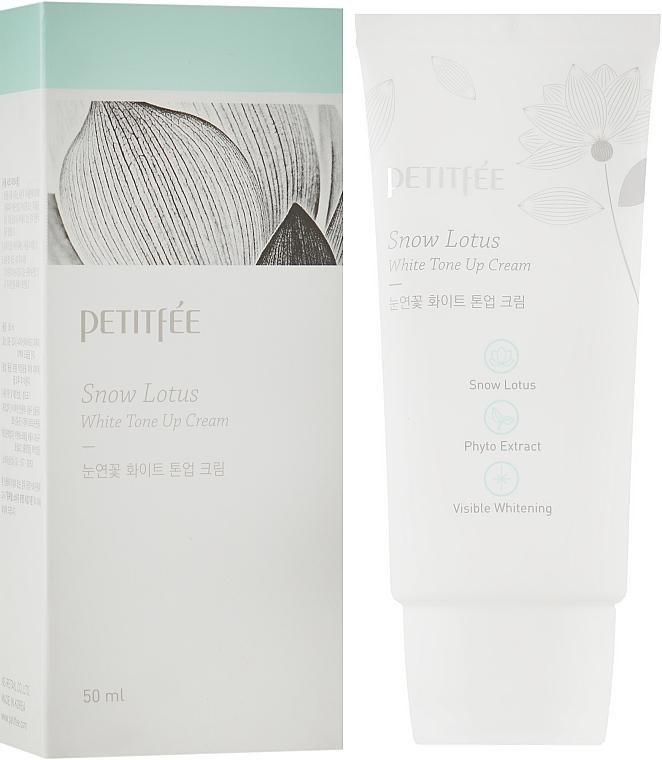 Увлажняющий и осветляющий крем для лица - Petitfee&Koelf Snow Lotus White Tone Up Cream