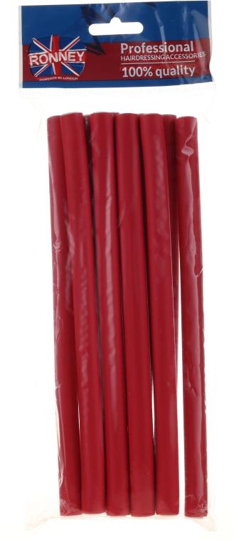 Бигуди для волос гибкие 12/210 мм, 10 шт, красные - Ronney Professional Flex Rollers
