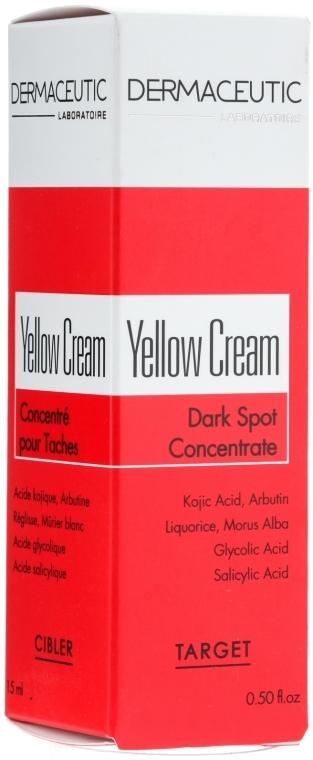 Нічний депігментуючий крем - Dermaceutic Laboratoire Yellow Cream Depigmenting Concentrate — фото N3