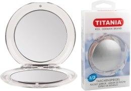 Зеркало карманное 6 см, двустороннее - Titania — фото N2
