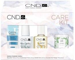 Духи, Парфюмерия, косметика Набір  - CND Essentials Holiday Care Kit (nail/oil/15ml + rxx/15ml + eras/14ml + nail/cream/74g)