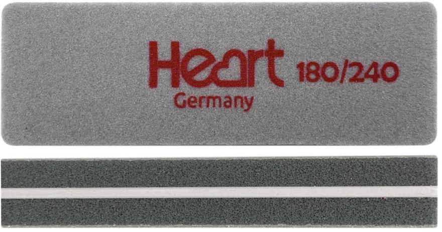 Шлифовщик для ногтей Heart Mini 180/240, прямоугольный - Heart Germany