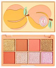 Духи, Парфюмерия, косметика Палетка теней для век - I Heart Revolution Mini Tasty Peach Eyeshadow Palette