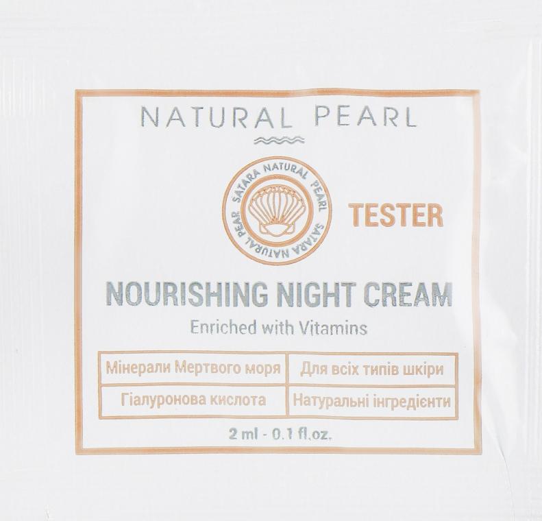 Питательный ночной крем - Satara Natural Pearl Nourishing Night Cream (пробник)