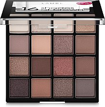 Палетка теней для век - Lamel Professional Eyeshadow 16 Shades Of Brown — фото N1