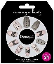 Духи, Парфюмерия, косметика Набор накладных ногтей с клеем, 3046 - Donegal