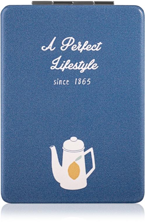 "Зеркало косметическое, ""A Perfect Lifestyle"", синее - SPL"