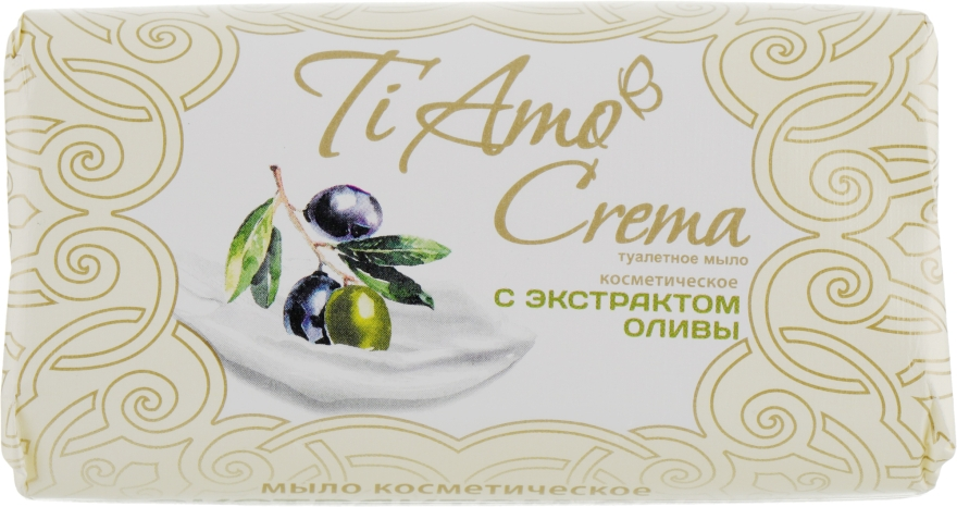 Туалетное мыло с экстрактом оливы - Мыловаренные традиции Ti Amo Crema