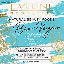 Духи, Парфюмерия, косметика Увлажняющий крем для лица - Eveline Cosmetics Natural Beauty Foods Bio Vegan