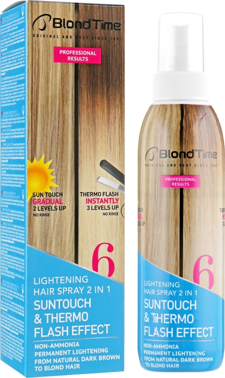 Осветляющий спрей для волос 2 в 1 - Blond Time Lightening Hair Spray