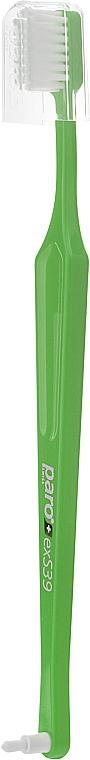 """Зубная щетка """"exS39"""" (в полиэтиленовой упаковке), салатовая - Paro Swiss Toothbrush"""