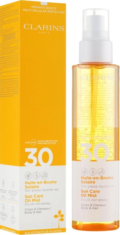 Солнцезащитное масло-спрей для тела и волос - Clarins Huile-en-Brume Solaire SPF 30