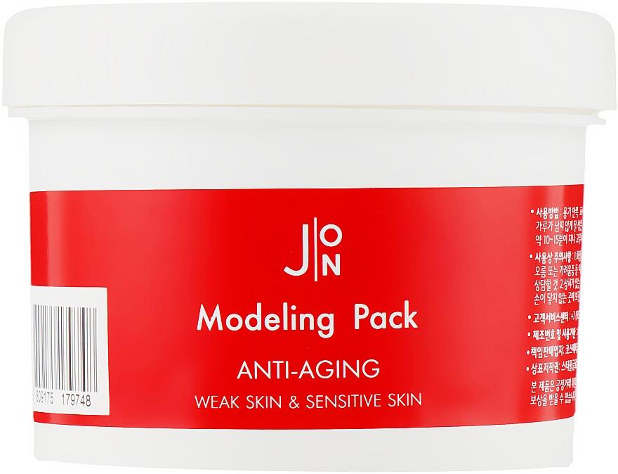 Альгинатная антивозрастная маска для лица с экстрактом женьшеня - J:ON Modeling Pack Anti-Aging
