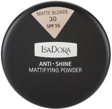 Духи, Парфюмерия, косметика Пудра для лица матирующая-антиблеск - IsaDora Anti Shine Mattifying Powder SPF 15