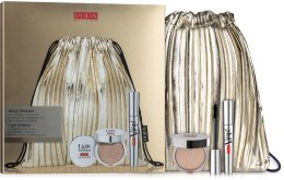 Духи, Парфюмерия, косметика Набор (mascara/9ml + highighter/4g) - Pupa Vamp! Mascara and Light Infusion Face Highlighter Kit
