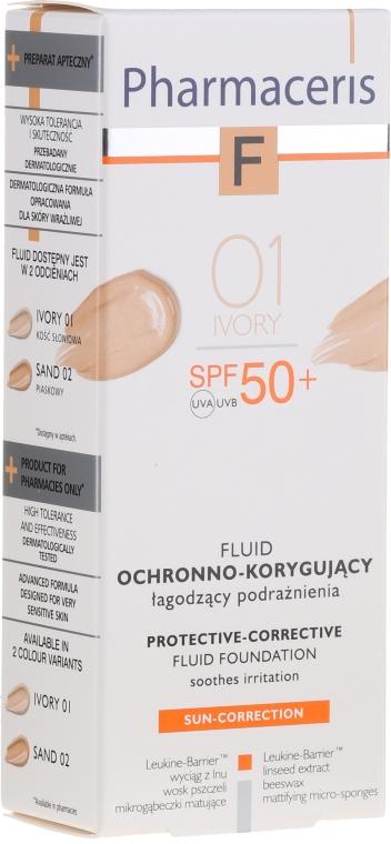 Защитный тональный флюид - Pharmaceris F Protective-Corrective Fluid Foundation SPF 50+ — фото N1