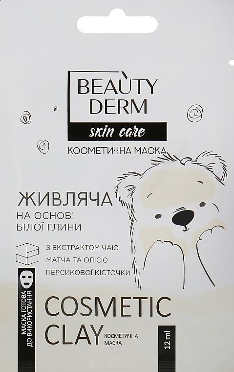 """Косметическая маска для лица на основе белой глины """"Питательная"""" - Beauty Derm Skin Care Cosmetic Clay"""