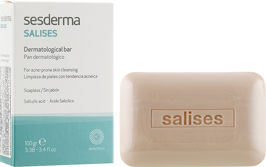 Дерматологічне мило - SesDerma Laboratories Salises Dermatological Soap Bar — фото N1