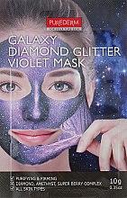 "Духи, Парфюмерия, косметика Маска-пленка для лица ""Фиолетовая"" - Purederm Galaxy Diamond Glitter Violet Mask"