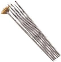 Духи, Парфюмерия, косметика Набор кистей для наращивания гелем и дизайна ногтей с серой ручкой - G. Lacolor