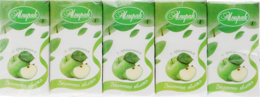 """Бумажные носовые платки, с ароматом """"Зеленое яблоко"""" - Alsupak"""