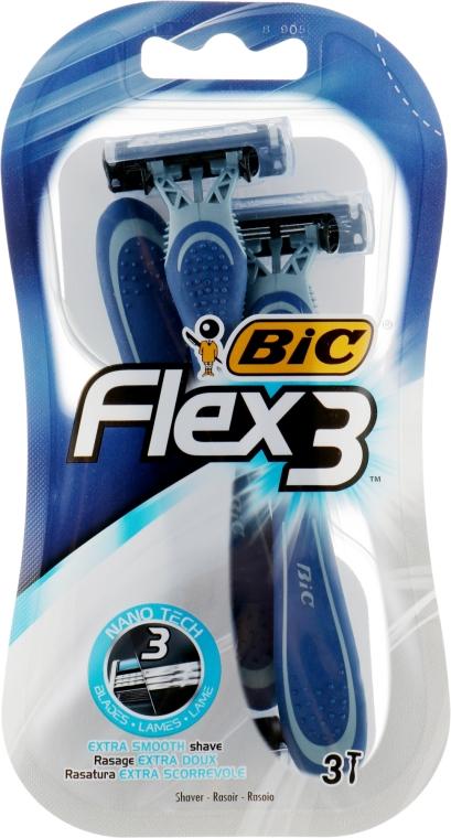 """Мужской станок для бритья """"Flex 3"""", 3 шт. - Bic"""