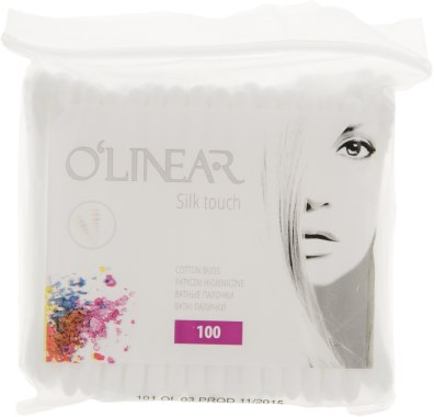 """Ватные палочки """"Silk Touch"""", в полиэтиленовой упаковке - O`linear"""