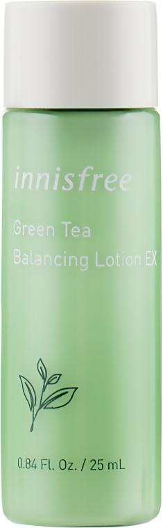 Балансирующий лосьон для лица с экстрактом зеленого чая - Innisfree Green Tea Balancing Lotion EX (тестер)