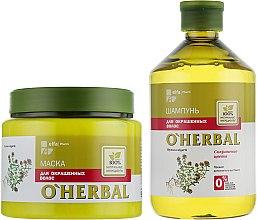 Духи, Парфюмерия, косметика Набор для окрашенных волос - O'Herbal (shmp/500ml + mask/500ml)