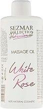 "Парфумерія, косметика Олія для масажу ""Біла троянда"" - Hristina Cosmetics Sezmar Professional Massage Oil White Rose"