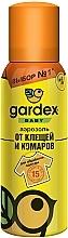 Духи, Парфюмерия, косметика Аэрозоль от клещей и комаров для детской одежды - Gardex Baby