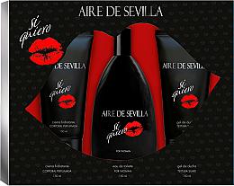 Духи, Парфюмерия, косметика Instituto Espanol Aire de Sevilla Si Quiero - Набор (edt/150ml + s/g/150ml + b/cr/150ml)