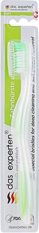 Зубная щетка с мягкой щетиной для глубокой очистки и удаления кариеса, салатовая - Das Experten Toothbrush