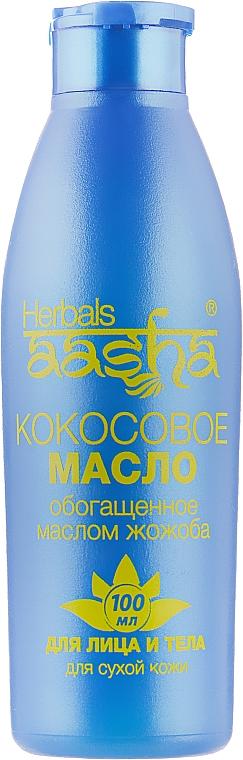 Масло кокосовое для лица и тела с Жожоба - Aasha