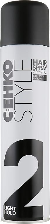 """Лак для волос """"Кристал"""" c экстрактом личи, нормальная фиксация - C:EHKO Style Hairspray Crystal (2)"""