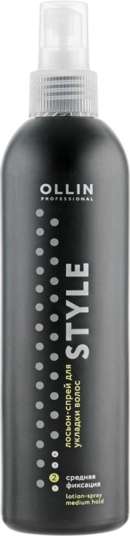 Лосьон-спрей для укладки волос средней фиксации - Ollin Professional Style Lotion-Spray Medium Fixation