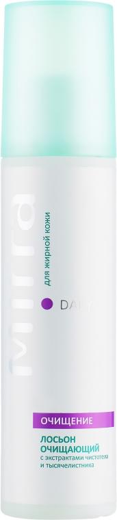 Лосьон очищающий для жирной кожи с экстрактами чистотела и тысячелистника - Mirra Daily