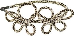 Духи, Парфюмерия, косметика Обруч-шнур для волос, черно-золотые банты - Элита