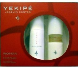 Духи, Парфюмерия, косметика Joaquin Cortes Yekipe Woman - Набор (edt/100ml + deo/150ml + сумка)