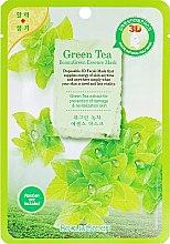 Духи, Парфюмерия, косметика Тканевая 3D маска для лица с зеленым чаем - Beauugreen Contour 3d Green Tea Essence Mask