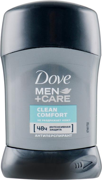 "Дезодорант-стик ""Экстразащита и уход без белых следов"" - Dove Men+ Care Clean Comfort Antiperspirant Deodorant Stick"