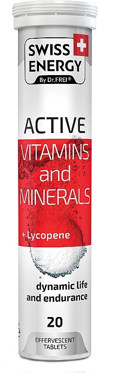 "Витамины шипучие ""Актив. Витамины и минералы+Ликопин"", 20 таблеток - Swees Energy Active Vitamins And Minerals+Lycopene"
