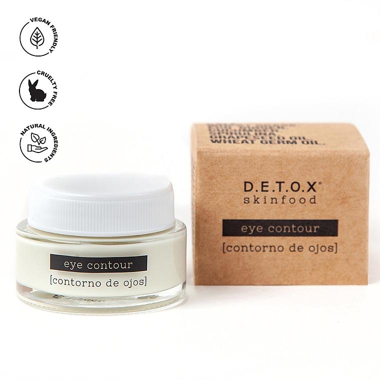 Детокс-крем для контура глаз от отеков и темных кругов - D.E.T.O.X. Skinfood Eye Contour