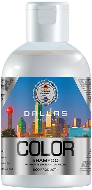 Шампунь для окрашенных и поврежденных волос с льняным маслом и УФ-фильтром - Dallas Cosmetics Color Protecting