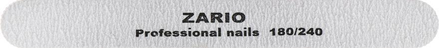 Пилка для ногтей, прямая, 180/240 - Zario Professional
